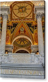 Erected Under The Act Of Congress Acrylic Print by Susan Candelario