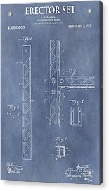 Erector Set Patent Acrylic Print by Dan Sproul