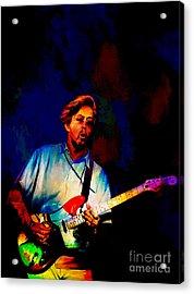 Eric Clapton 2  Acrylic Print by Andrzej Szczerski