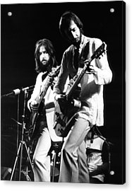 Eric Clapton And Pete Townshend  Acrylic Print by Chris Walter