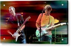 Eric Clapton And Steve Winwood Acrylic Print by Marvin Blaine