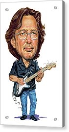 Eric Clapton Acrylic Print by Art