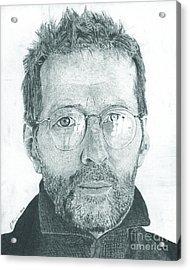 Eric Clapton Acrylic Print by Jeff Ridlen