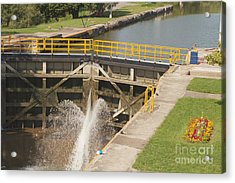 Acrylic Print featuring the photograph Erie Canal Lock by William Norton