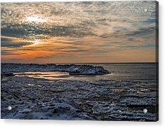 Erie Ice Dunes Acrylic Print