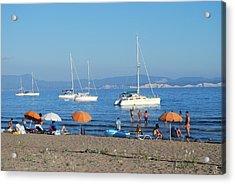 Erikousa Beach One Acrylic Print
