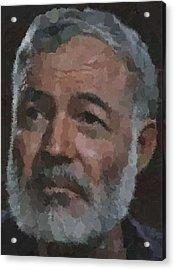 Ernest Hemingway Portrait Acrylic Print
