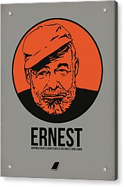 Ernest Poster 1 Acrylic Print by Naxart Studio
