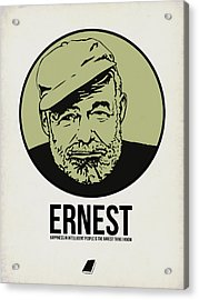 Ernest Poster 2 Acrylic Print by Naxart Studio