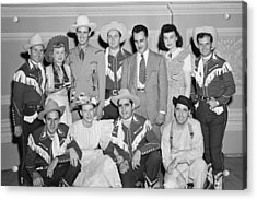 Ernest Tubb Minnie Pearl And Other Grand Ole Opry Stars At Carnegie Hall 1947    Acrylic Print by Mountain Dreams