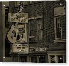 Ernest Tubb Record Shop Acrylic Print by Dan Sproul