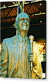 Ernie Harwell Statue At The Copa Acrylic Print