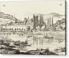 Ernst Fries German, 1801 - 1833, The Convent Of Neuberg Acrylic Print by Quint Lox