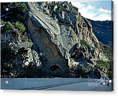Acrylic Print featuring the photograph Eroding Hillside And Tunnel by Susan Wiedmann