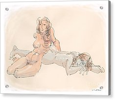 Erotic Drawings 18 Acrylic Print