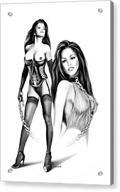 Erotic Lesbian Pet By Spano Acrylic Print