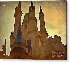 Errie Castle Acrylic Print