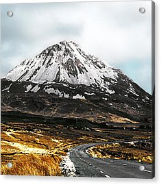 Errigal Donegal Ireland Acrylic Print by Jane McIlroy