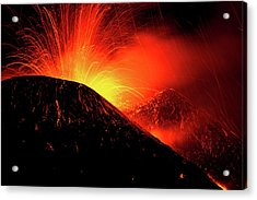 Eruption By Night Acrylic Print