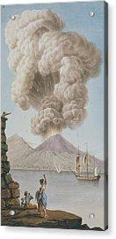 Eruption Of Vesuvius, Monday 9th August 1779 Acrylic Print
