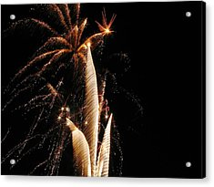 Eruptions In The Night Acrylic Print by Steven Parker