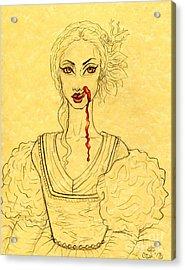Erzibeth Bathory Acrylic Print by Coriander  Shea