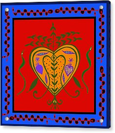 Acrylic Print featuring the digital art Erzulie Freda by Vagabond Folk Art - Virginia Vivier