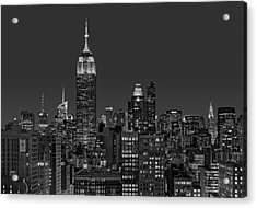 Esb Surrounded By The Flatiron District Bw Acrylic Print