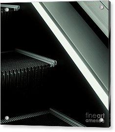 Escalator 04 Acrylic Print by Noir Blanc