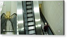 Escalator 23 Minutes Acrylic Print by Eric Soucy