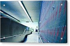 Escalator Blues Acrylic Print by Eric Soucy