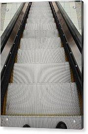 Escalator Acrylic Print by Les Cunliffe