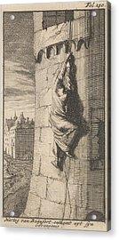 Escape Of The Duke Of Beaufort, 1648, Caspar Luyken Acrylic Print by Caspar Luyken And Boudewijn Van Der Aa