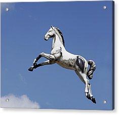 Escaped Carousel Horse Acrylic Print