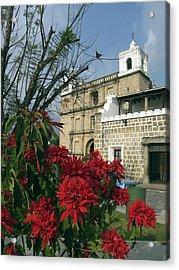 Escuela De Cristo Church Antigua Acrylic Print by Kurt Van Wagner