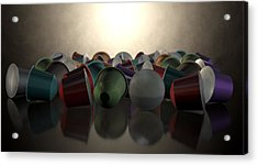 Espresso Coffee Capsules Acrylic Print by Allan Swart