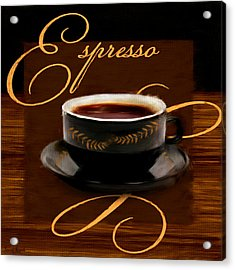 Espresso Passion Acrylic Print by Lourry Legarde