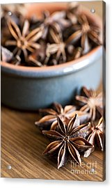 Essence Of Aniseed Acrylic Print by Anne Gilbert