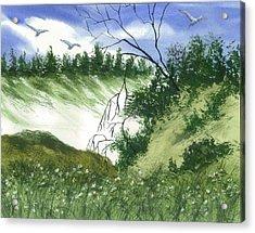 Essence Of The Coast  Acrylic Print by Karen  Condron