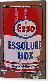 Esso Can Acrylic Print