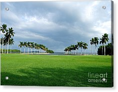 Estate Lawn Acrylic Print by Andres LaBrada