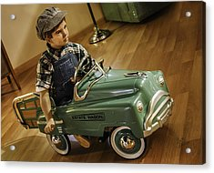 Acrylic Print featuring the photograph Estate Wagon Pedal Truck by Betty Denise