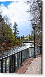 Estes Park River Walk Acrylic Print