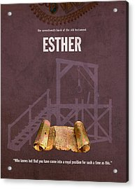 Esther Books Of The Bible Series Old Testament Minimal Poster Art Number 17 Acrylic Print by Design Turnpike