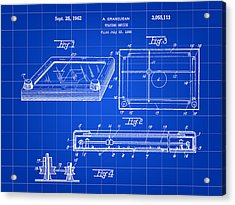 Etch A Sketch Patent 1959 - Blue Acrylic Print