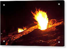 Acrylic Print featuring the photograph Eternal Flames by David Isaacson