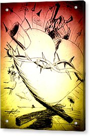 Eternal Heart - First Of Series Acrylic Print by David De Los Angeles