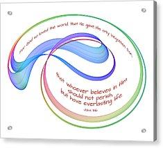 Eternal Life Fractal On White Acrylic Print