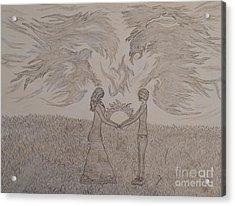 Eternally Torn Acrylic Print by Thommy McCorkle
