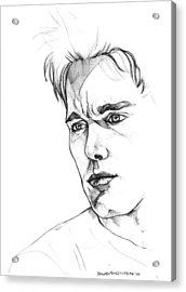 Ethan Hawke Acrylic Print by John Ashton Golden